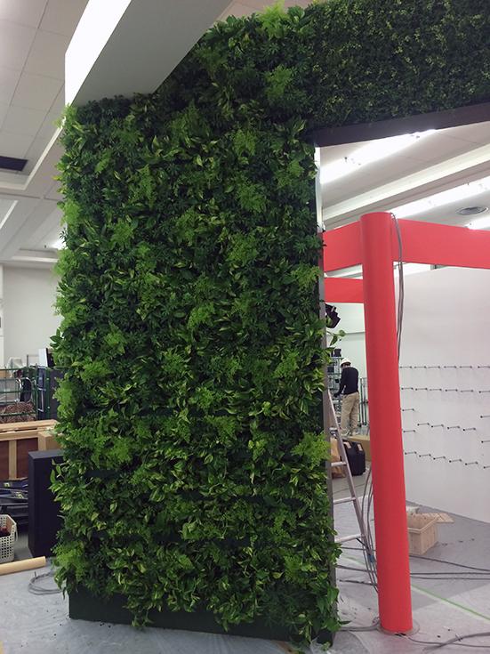 イベント用の壁面緑化
