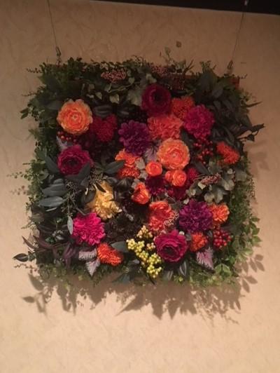 壁面造花装飾